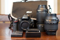 Nikon D5100 with 2 Lenses and 2 batteries