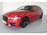 2016 Jaguar XF 2.0 R-SPORT 4d AUTO-2 OWNER CAR-SUNROOF-HEATED RED AND BLACK LEAT