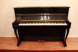 """""""Wesberg"""" Black Acoustic Piano midsize in meant condition"""