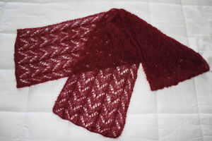 Hand knit lace scarf NEW