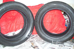 TWO REAR TIRES 205 X 55 R16 LOW PROFILE