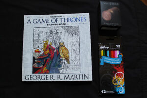 Game of Thrones colouring book/pencils/waxed seal kit