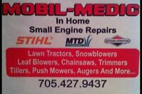 Mobil-Medic. Lawn Mower, Tractor, & Small Engine Repairs.