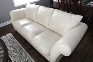 Leather Couch - Ivory colour