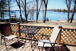 Stunning Lakefront Lot w cottage West facing, 128' Waterfront