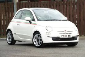 2011 FIAT 500 0.9 TWINAIR LOUNGE 3DR HATCHBACK PETROL