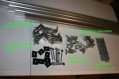 Solar Rail  Kit For Mounting 4 320W Panels With Clamps And L Brackets