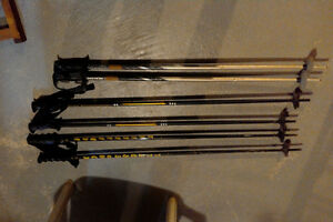 Three pairs of ski poles for sale!