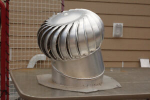 "Two 14"" Aluminum Whirly Bird Roof Vent"