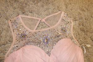 Pink Beaded Deb Prom Dress