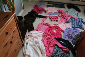 Size 5 girls clothing 16 long sleeve tops and 4 pairs of pants