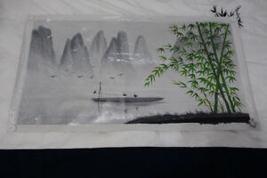 Hand-Painted Artisan Chinese Oil Painting - Mountain Landscape