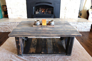 Coffee table distressed grey