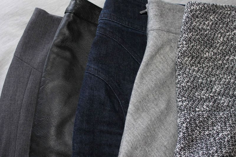Read the labels of the fabrics before you buy. Go with higher quality rather than cheap for a longer lasting wardrobe.