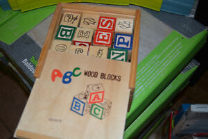 Educational Building Wooden blocks ABC/123. Excellent condition