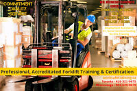 Forklift Training + Licence + Free JOB Assistance $14-$18/hr