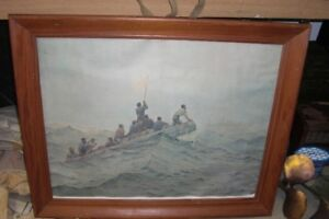 WW-2 SIGNED PAINTINTING FOR SALE