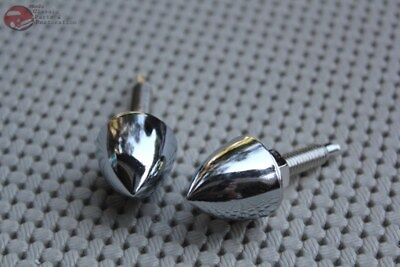 Bullet Nut Fasteners Pair Hot Rat Street Rod Custom Motorcyle 1 1/2 Truck Pickup