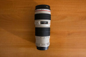 Canon EF 70-200mm F4L lens in good condition with filter