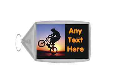 Bmx Biker Personalised Keyring