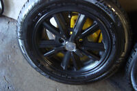 4 MAG JANTE FORD MUSTANG AVEC PNEUS MICHELIN XICE 225 60 16