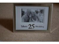 Silver 25th Wedding Anniversary Photo Frame (6 x 4) - Brand New in original box