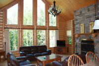 Cottage for rent with spa and sauna at St Sauveur Fiddler Lake