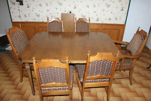 Solid Wood Dining Set - seats 6