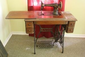Vintage Treadle Singer Sewing Machine and Cabinet