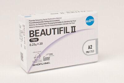 Shofu Beautifil Ii Tips A2 Flouride Releasing Dental Restorative Box Of 20