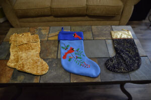 Christmas Stockings  and 1 set of Stocking holders/hangers