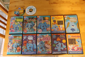 12 Blues Clues and Blues Room DVDs