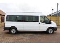 2012 FORD TRANSIT 350 TDCI 135 LWB MEDIUM ROOF 14 SEAT BUS MINIBUS DIESEL