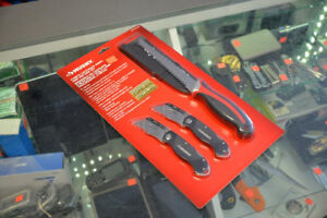 Husky 4-Piece Lock-Back Knife and Jab Saw Set - NEW IN BOX