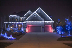 we install  exterior Christmas lights