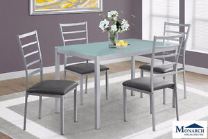 Brand NEW Silver Metal Dinette Set! Call 306-343-2155!