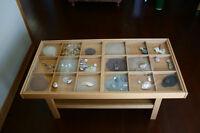 Table à café à dessus en vitre / Glasstop coffee table