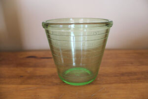 Vintage Green Depression Glass Measuring Cup London Ontario image 1