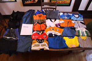 USED 5 pieces cycling jerseys MAILLOTS BIBS shorts S MED L XL 2X