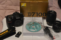 Nikon D7100, 2 Lenses & wireless remote