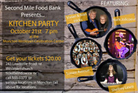 Second mile food bank Kitchen party concert