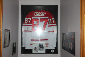 Framed Shadow Box Sidney Crosby Jersey  Golden Goal Picture