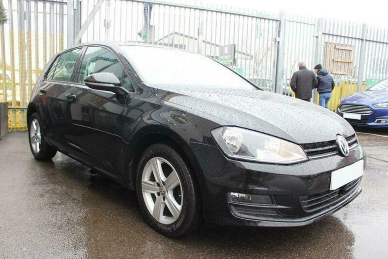 2015 BLACK VW GOLF 1.6 TDI 105 MATCH DSG 5DR AUTO HATCH CAR FINANCE FR £161 PCM