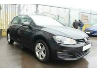 2015 BLACK VW GOLF 1.6 TDI 105 MATCH DSG 5DR AUTO HATCH CAR FINANCE FR £161 PCM