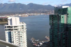 Vancouver Coal Harbour 2 bdrm 1,100 sq. ft. condo for rent