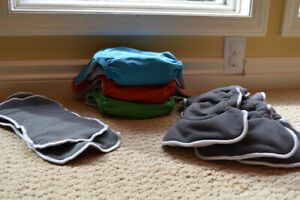 Lil Helper Cloth Diapers (3) and inserts (7)