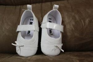 souliers blanc baptême