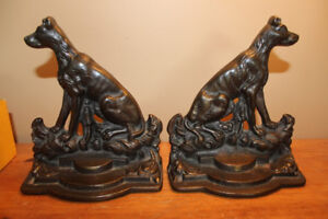 Pair of Vintage Large Dog Bookends