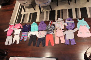 9 month baby girls lot of outfits for just $65!