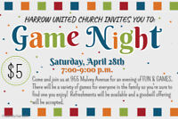 Game Night at Harrow United Church